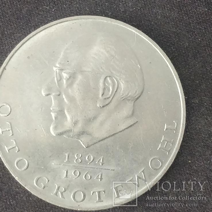 ГДР 20 марок Отто Гротеволь, фото №2