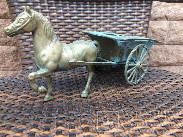 «Лошадь с повозкой» /бронза/., фото №2