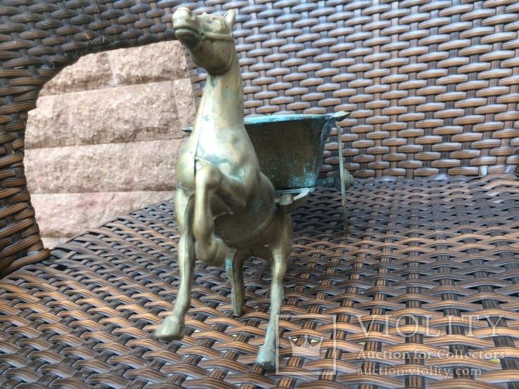 «Лошадь с повозкой» /бронза/., фото №11