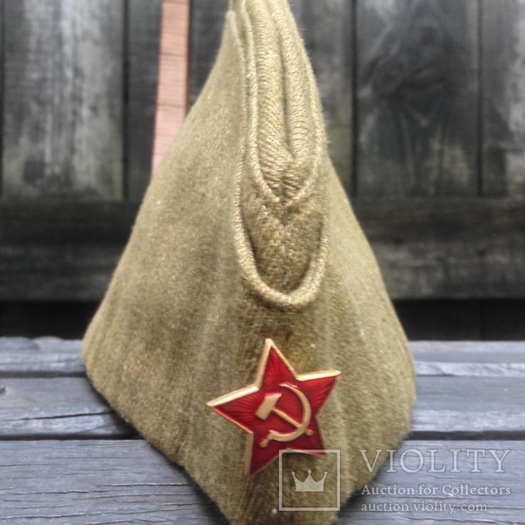 Пилотка солдатская СА СССР 1971 год склад, фото №2