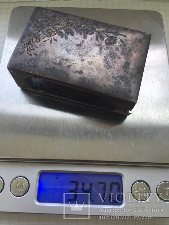Спичечница серебро 84, фото №6