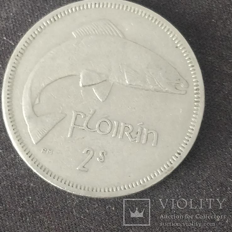 Ирландия,флорин (2 шиллинга),1965 г., фото №2