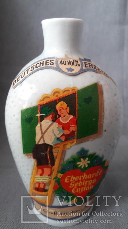 L Eberhardt Munchen, бутылка из  под ликера + стаканчик, фото №3