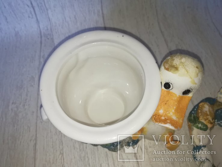 Разное кухонное. Сахарница гуси, молочник, масленка., фото №10
