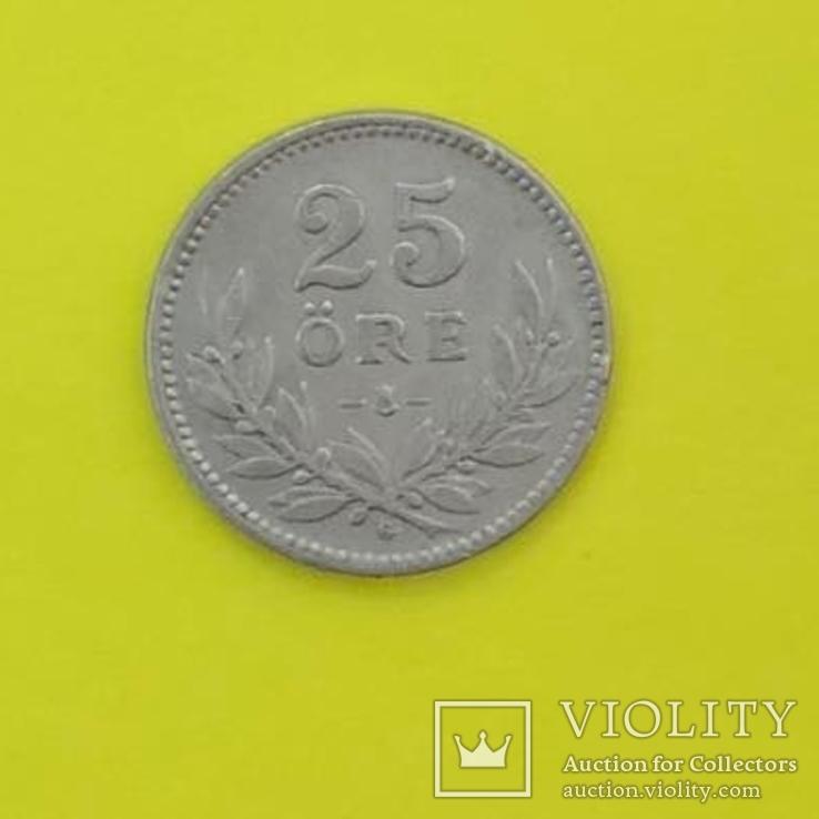 Швеція 25 ере, 1931р. Срібло., фото №2