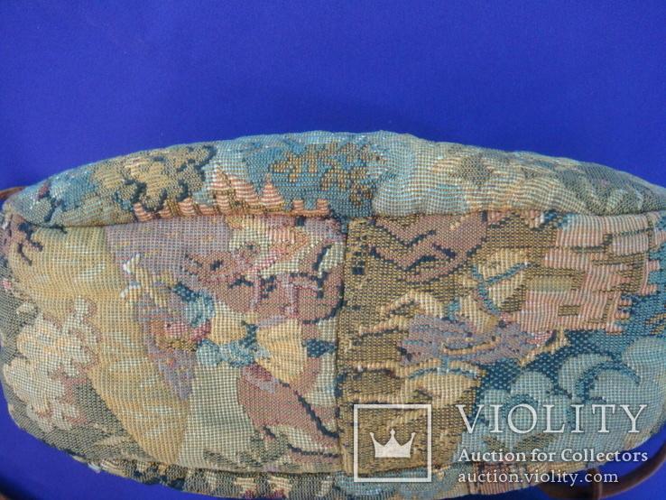 Сумка кросс боди сюжетная гобелен + натуральная кожа, Rula, винтаж, фото №8