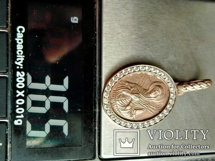 Семистрельная икона .( серебро, позолота), фото №5