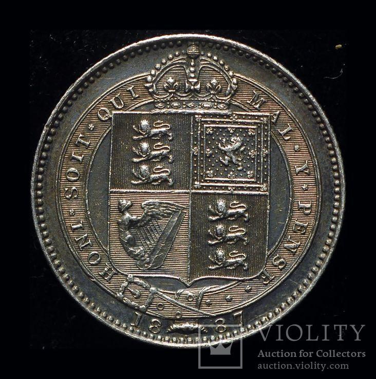 Великобритания шиллинг 1887 серебро