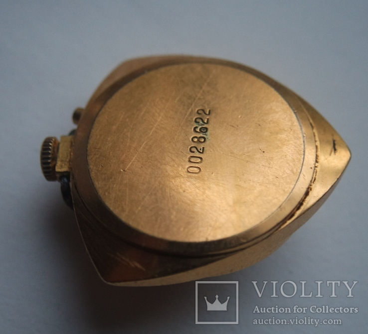 Часы кольцо Чайка AU, кулон Заря AU5 (на ходу), фото №5