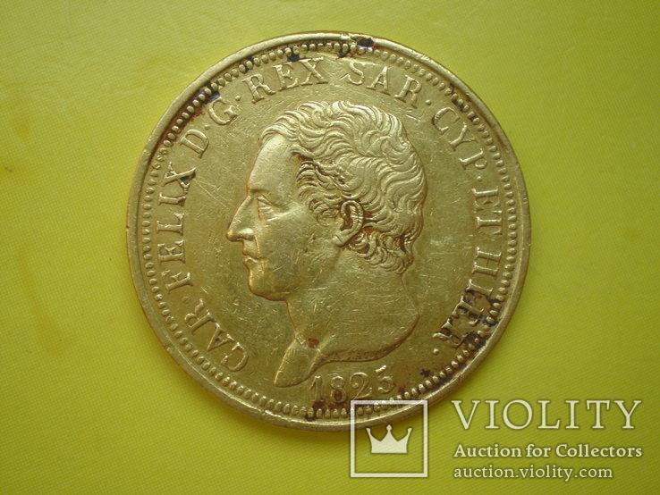 80 лир 1825 г. Сардиния