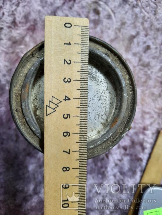 Краска масляная СССР  Белила  цинковые жесткбанка 750 гр., фото №3