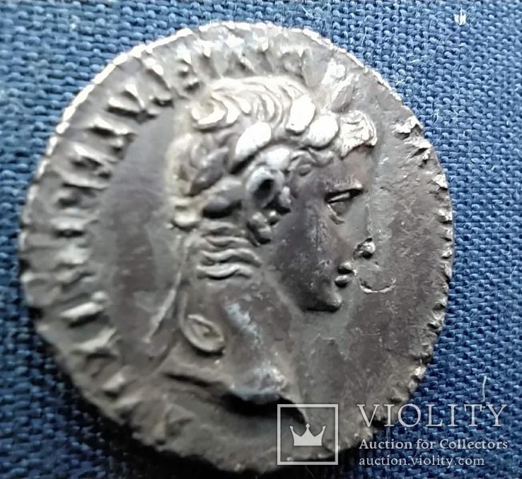 Денарий Августа.27-14 г.до.н.э. Монетный двор lugdunum ( 2 г.до.н.э-4 г.н.э)., фото №4