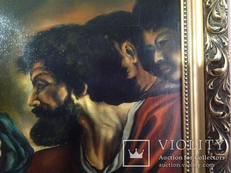 Большая картина Фома не верующий. Копия., фото №9
