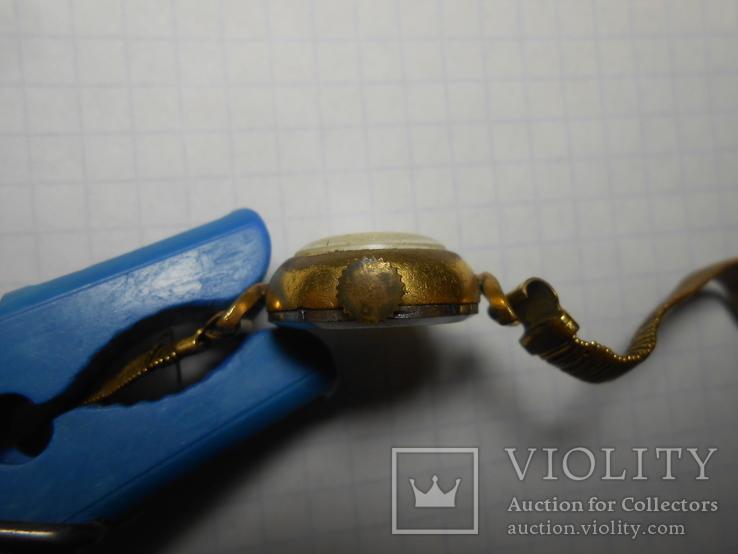 Часы женские Заря с браслетом Au позолота, фото №9