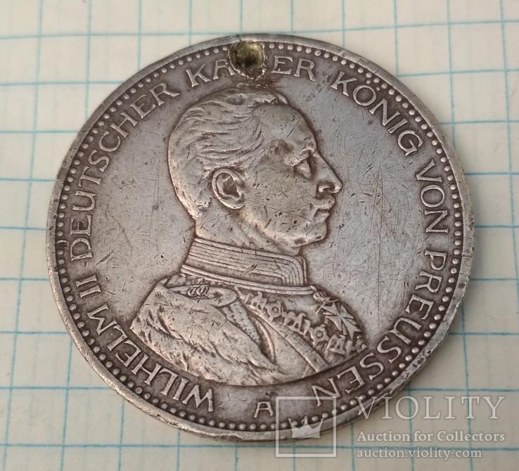 5 марок 1914 года А, Пруссия Вильгельм II, фото №2