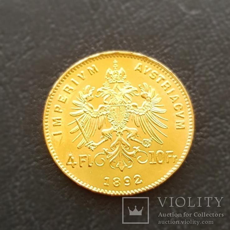4 флорина/ 10 франков 1892 года, Австро-Венгрия