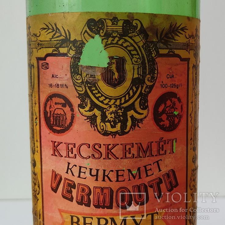 Бутылка от вермута Кечкемет 1 л (красный), фото №5