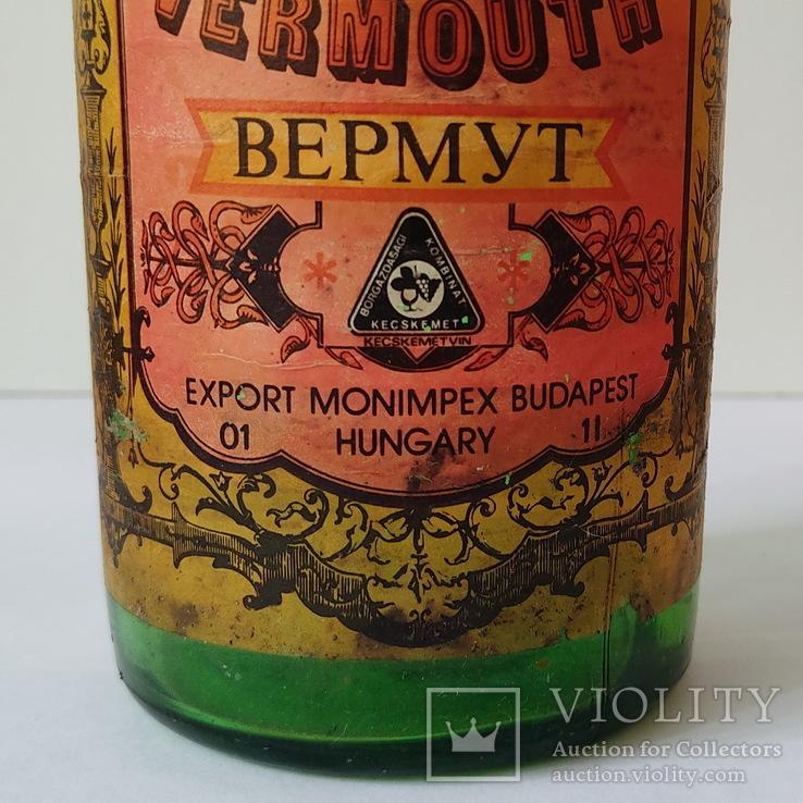 Бутылка от вермута Кечкемет 1 л (красный), фото №6