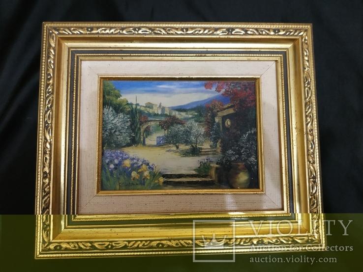 Картина холст маслом подпись у замка