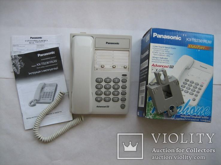 Телефон Panasonic KX-TS2361RUW, фото №2