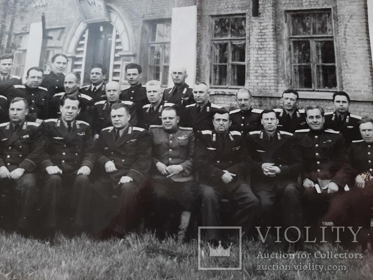 Групповое фото офицеров с перечнем фамилий на обороте, фото №5