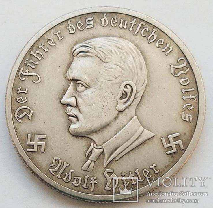 Германия. Третий Рейх. Самолет-разведчик. 10 марок 1941 г. Копия., фото №3