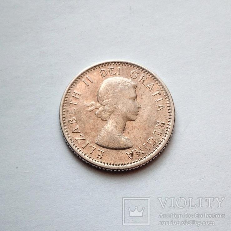 Канада 10 центов 1964 г., фото №2