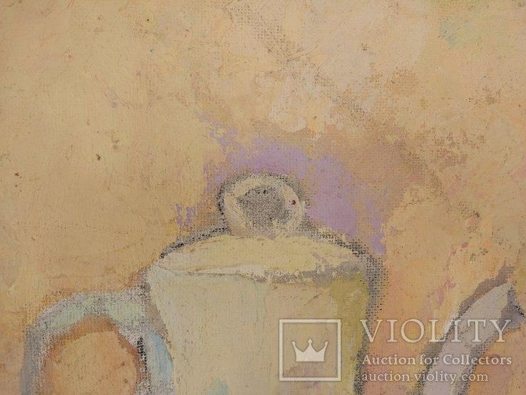 """Р.Фарапонов """"Белый натюрморт"""", орг.м.,54*84см., фото №7"""