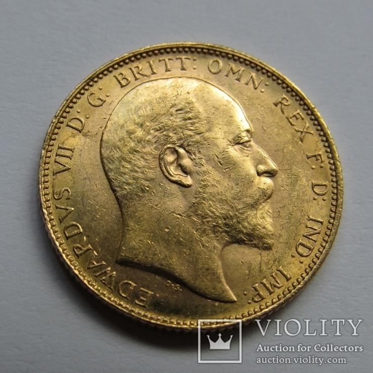 1 фунт (соверен) 1905 г. Британская империя.