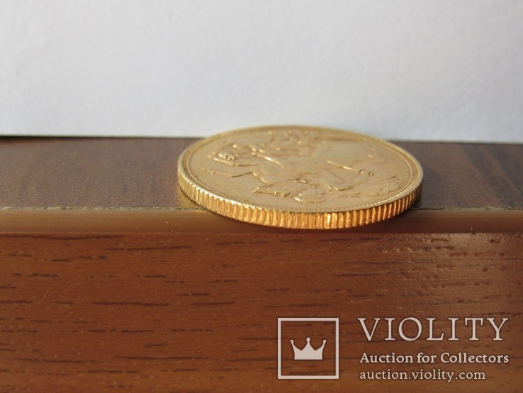 1 фунт (соверен) 1905 г. Британская империя., фото №8