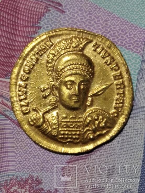 Солид.имп.Констанций ІІ Рим г.Сирмий