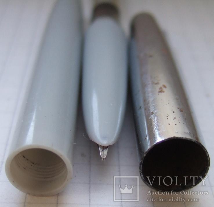 Перьевая ручка АР-19 МЗПП. Перо с напайкой. Пишет довольно мягко и тонко., фото №7