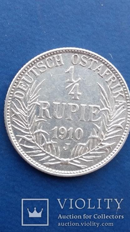 1/4 рупии 1910 год Германская ОстАфрика, фото №2