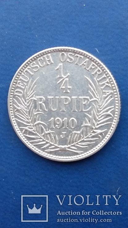 1/4 рупии 1910 год Германская ОстАфрика, фото №3
