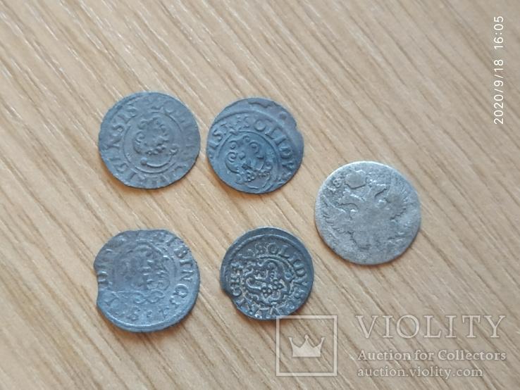 Старые серебряные солиды, фото №4