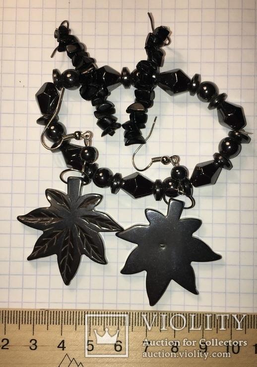 Гематит браслет и серьги (2 пары), фото №6