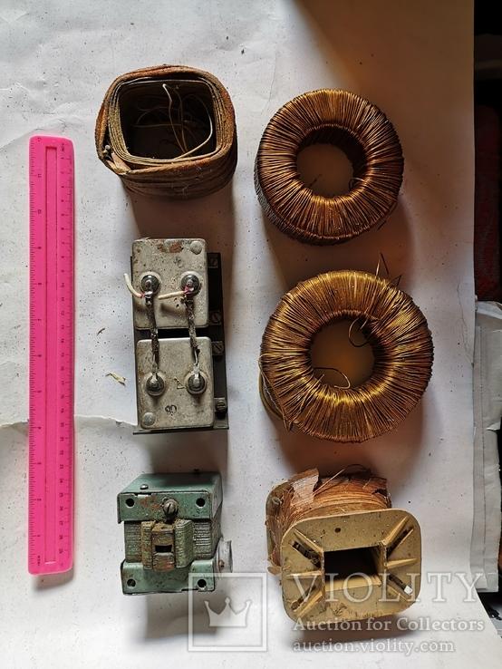 Трансформаторы медные медь обмотка радио детали уборка гаража, фото №3