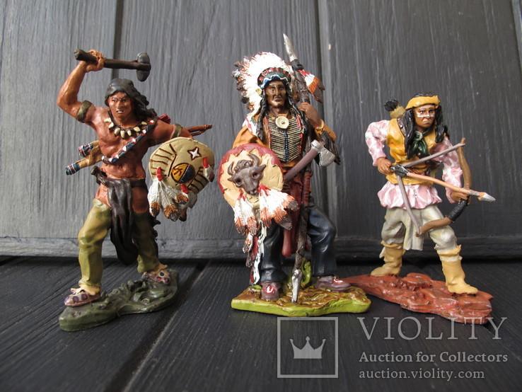 Лот 3 шт Индейцы . Индеец  Олово 80 мм Hobby & Work, фото №2