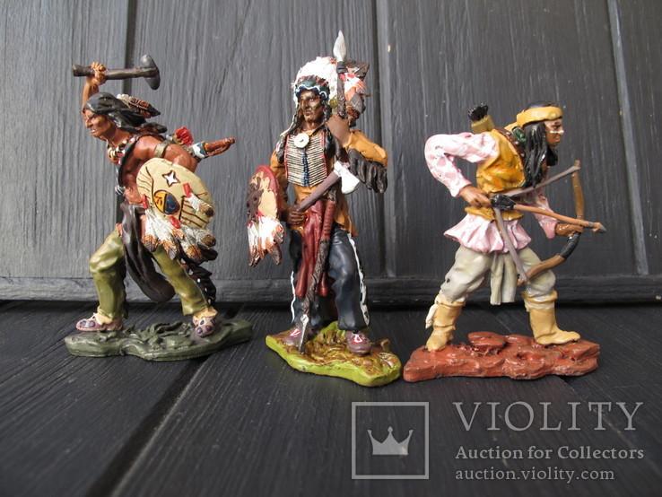 Лот 3 шт Индейцы . Индеец  Олово 80 мм Hobby & Work, фото №3