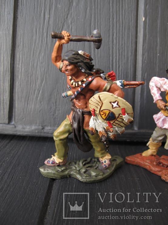 Лот 3 шт Индейцы . Индеец  Олово 80 мм Hobby & Work, фото №6