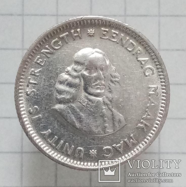 ЮАР 5 цэнтов 1963г серебро, фото №3