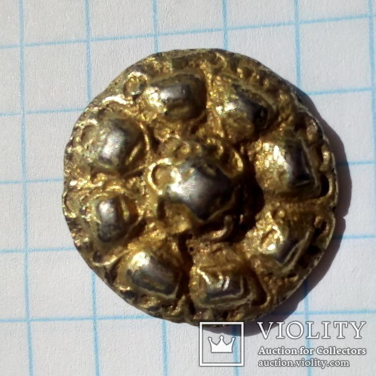 Серебряная накладка в позолоте 4 грамма