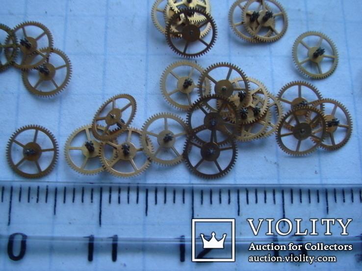 Колесико к часовому механизму 30 шт., фото №6