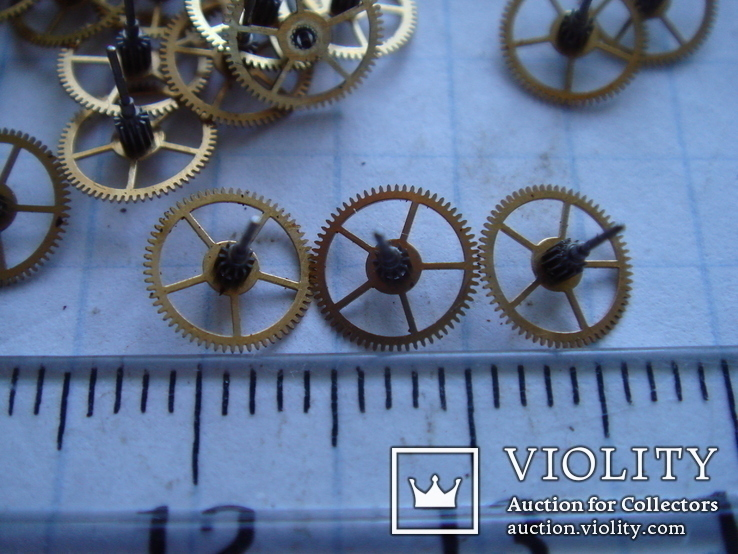Колесико к часовому механизму 70 шт., фото №3