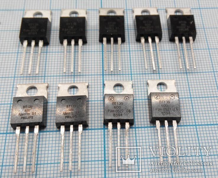 286 Симисторы ВТ139-600 9шт., фото №2