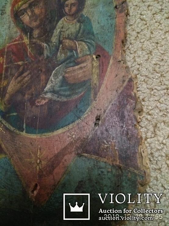 Икона старая 12 х23см, фото №5