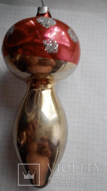 Елочная игрушка - грибок, СССР., фото №3