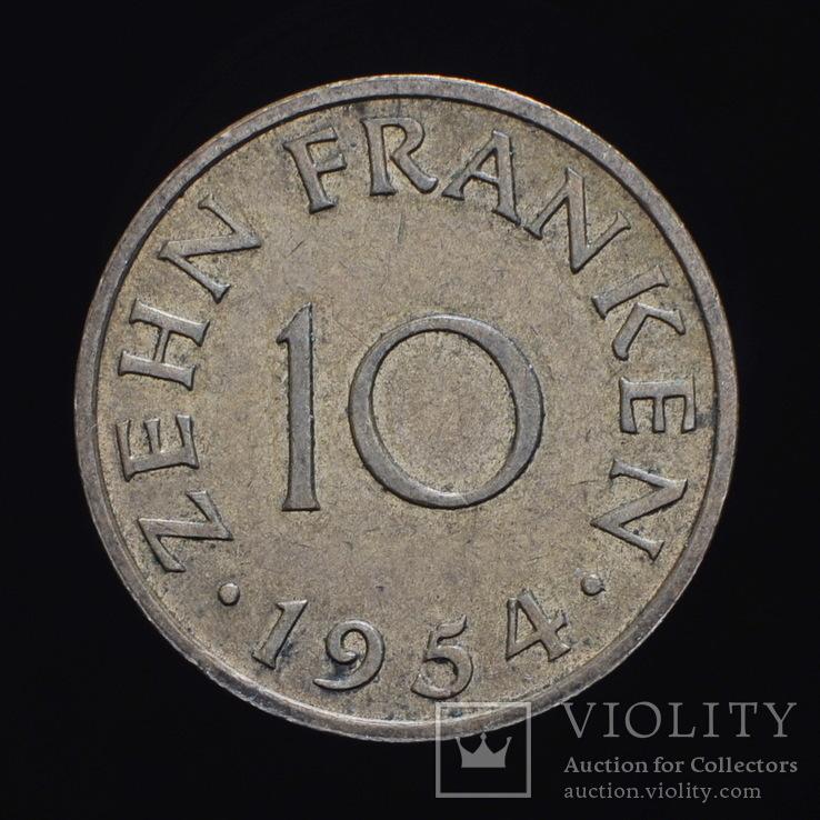 10 Франков 1954, Саар Германия, фото №2