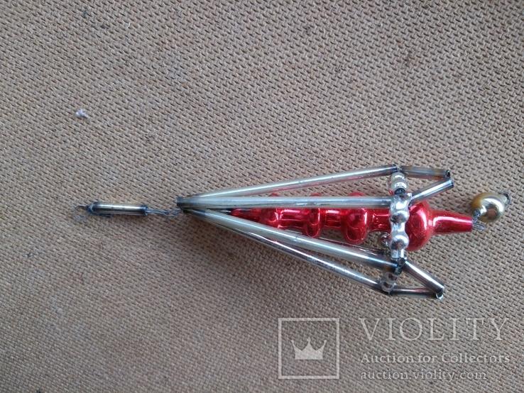 Ёлочная игрушка из стекляруса СССР, фото №6