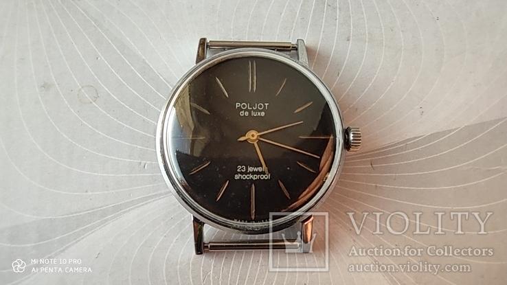 Часы Poljot de luxe 23 jewels  made in USSR . Полет плоский